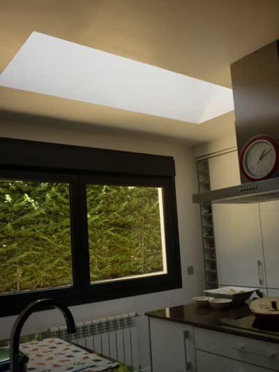 Cocina con luz natural